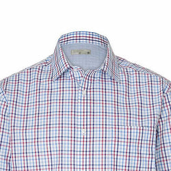TARGET Men's Red Check Classic Fit Stripe Shirt