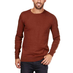 Kiabi Round Neck Soft Knit Brown Sweater