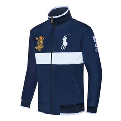 Ralph Lauren Jockey Club Wind Breaker Navy Blue With White Strip #2283