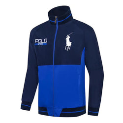 Ralph Lauren Big Pony Polo Sport Wind Breaker Navy Blue with Royal Blue #2286