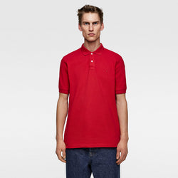 Zara Essentials Red Polo Shirt