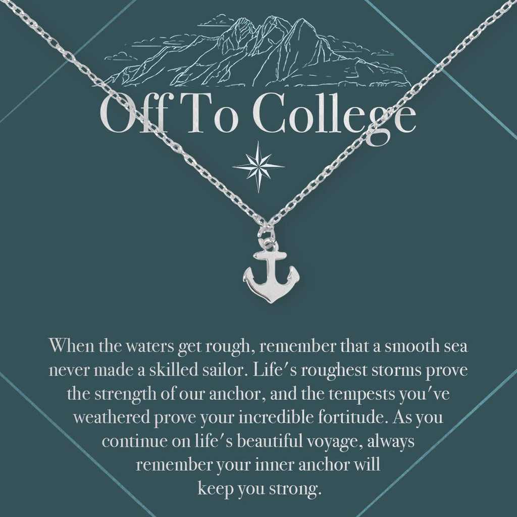 Off to College Anchor Necklace