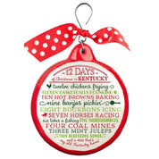 12 Days of Chrismast in Kentucky Ceramic Ornament