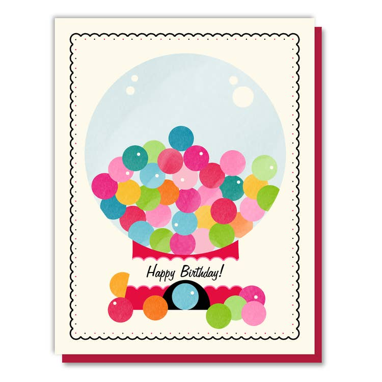 Gumballs Birthday Card
