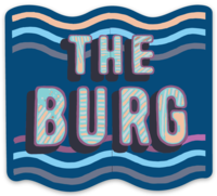 The Burg Sticker
