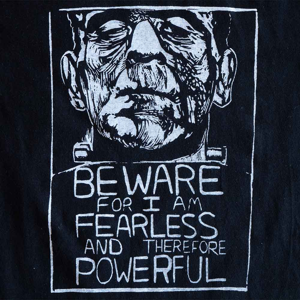 Frankenstein Inspired Hand Printed Cotton Tshirt