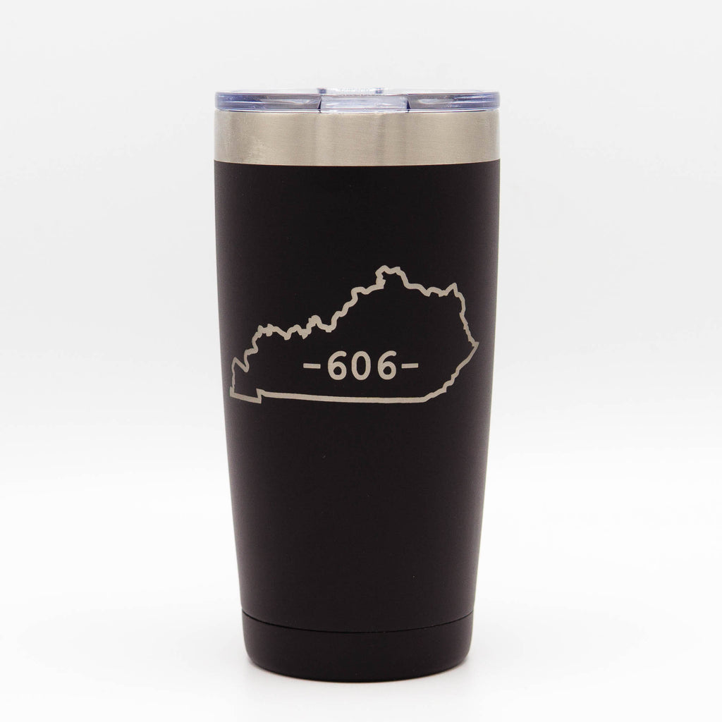 "Engraved 20 oz Hot/ Cold ""606"" Tumbler (includes lid)"