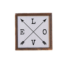 6X6 Love Sign With Arrows -  Valentine Sign