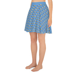 Kentucky is a Rainbow Blue Skater Skirt