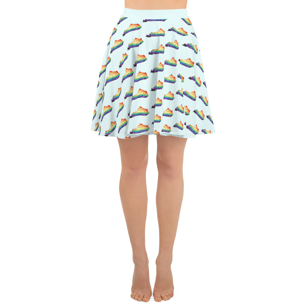 Kentucky is a Rainbow Retro Skater Skirt