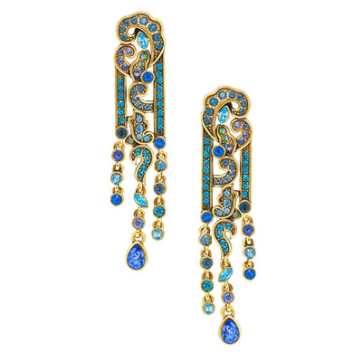 """Age Of Allure"" Crystal Deco Drop Earrings"