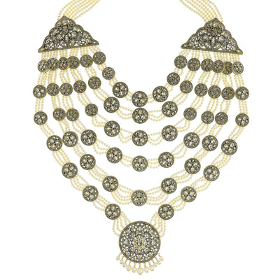 """Goddess Of Love"" Swarovski & Pearl Iconic  Statement Necklace"