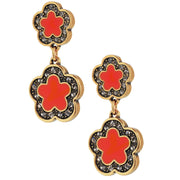 """Easy Does It"" Enamel & Crystal Dangle Earrings - Heidi Daus®"