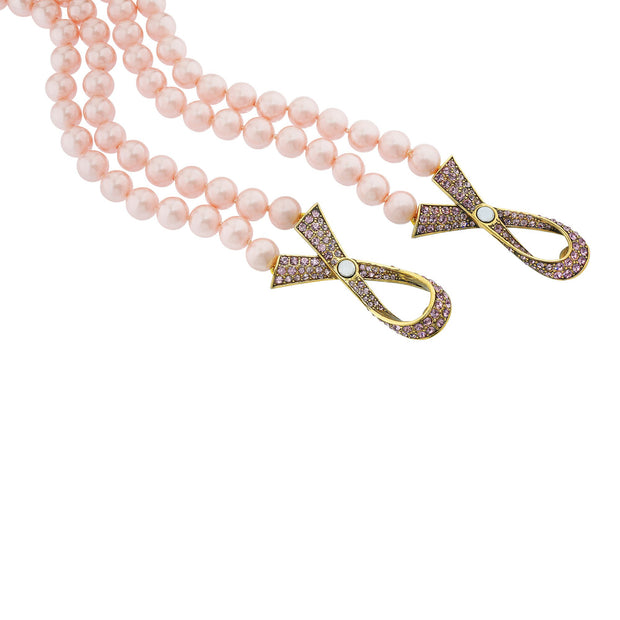 "HEIDI DAUS® ""Sparkle Strong"" Beaded Crystal Ribbon Necklace - Heidi Daus®"