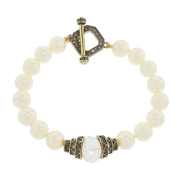 "HEIDI DAUS® ""Countless Ways"" Beaded Crystal Toggle Bracelet - Heidi Daus®"