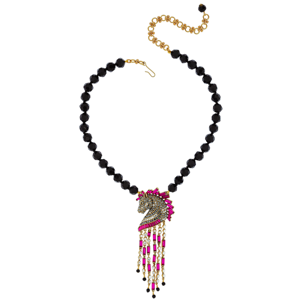 "Heidi Daus®""Decorative Dressage"" Beaded Crystal Horse Necklace - Heidi Daus®"