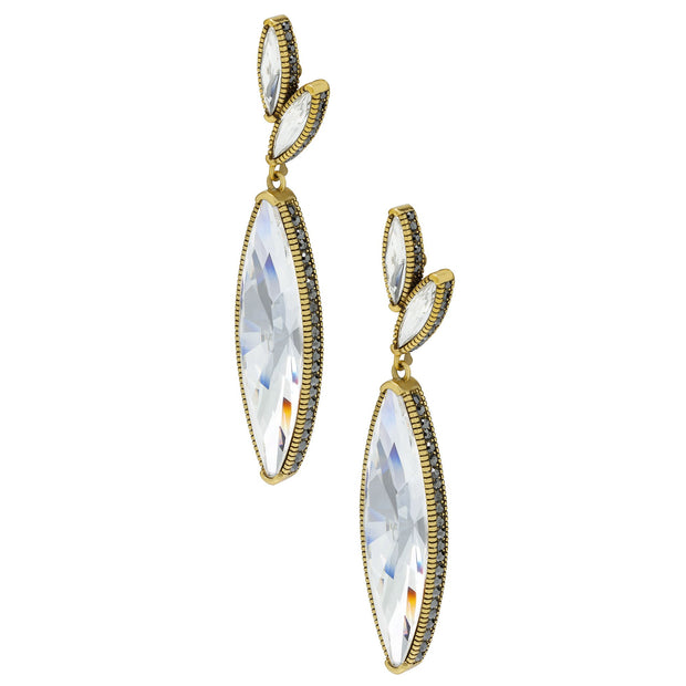"""Fabulous Feng Shui"" Swarovski Oversized Crystal Drop Earrings - Heidi Daus®"