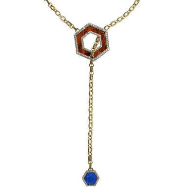 "HEIDI DAUS® ""Hex Appeal"" Geometric Lariat Necklace - Heidi Daus®"