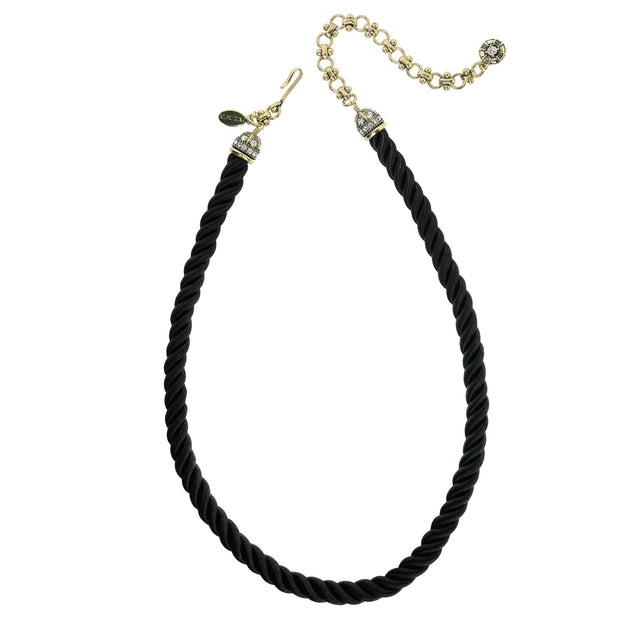 "HEIDI DAUS® ""Elegant Essentials"" Pin Enhancer Cord Necklace - Heidi Daus®"