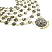 """Goddess Of Love"" Swarovski & Pearl Iconic Statement Necklace - Heidi Daus®"