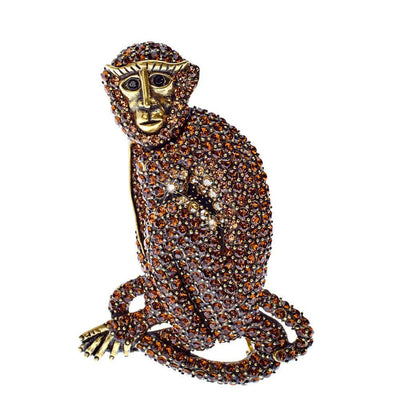 """Ms. Monkey"" Crystal Pin"