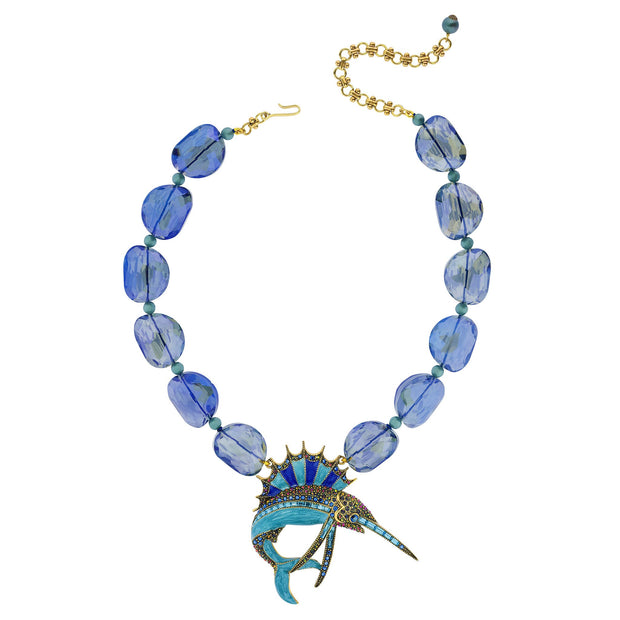 """Fantastic Swordfish"" Crystal Fish Necklace - Heidi Daus®"