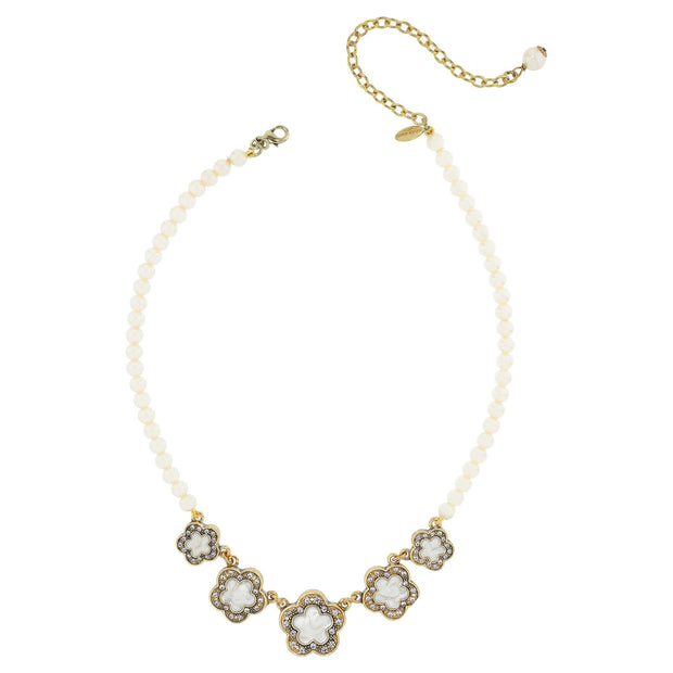 """Easy Does It Quintet"" Crystal Beaded Necklace - Heidi Daus®"
