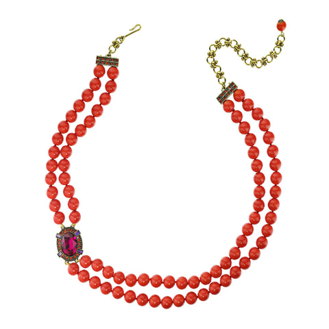 """Bold & Beautiful"" Crystal Beaded Necklace"