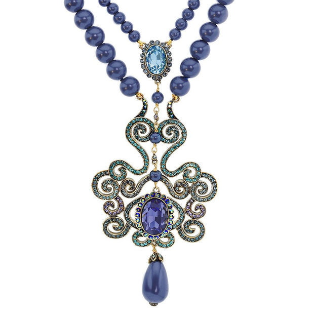 "HEIDI DAUS® ""Dynamic Elegance"" Beaded Crystal Necklace - Heidi Daus®"
