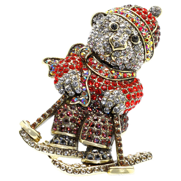 "HEIDI DAUS® ""Breckenridge Bear"" Crystal Bear Pin - Heidi Daus®"