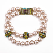 "HEIDI DAUS® ""Staying In Line"" Beaded Crystal 2-Strand Bracelet - Heidi Daus®"
