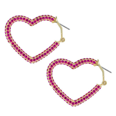 """All You Need Is Love"" Crystal Heart Earrings - Heidi Daus®"