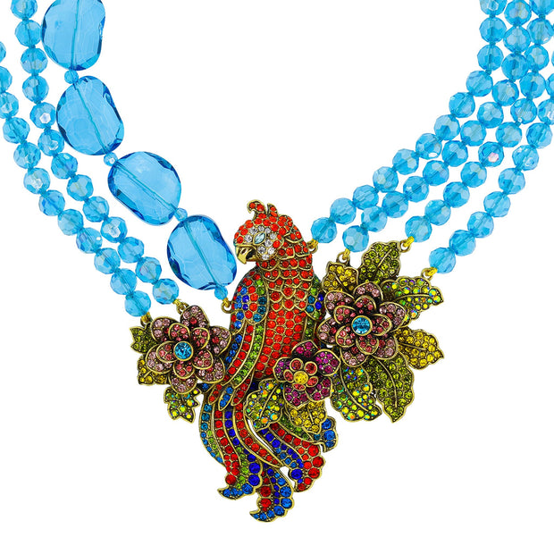 "HEIDI DAUS®""Pretty Polly"" Crystal & Beaded Parrot Necklace - Heidi Daus®"