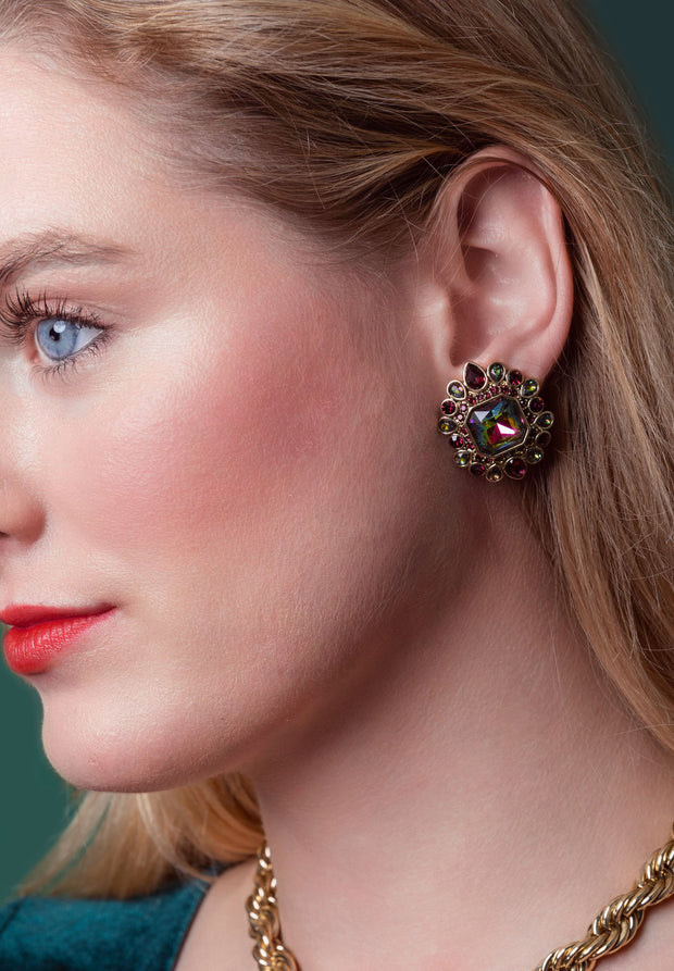 "HEIDI DAUS®""Sparkle My Way"" Crystal Button Earrings - Heidi Daus®"