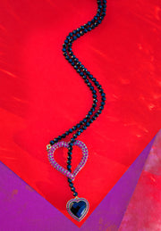 "HEIDI DAUS®""Love to Love"" Beaded Crystal Heart Lariat - Heidi Daus®"