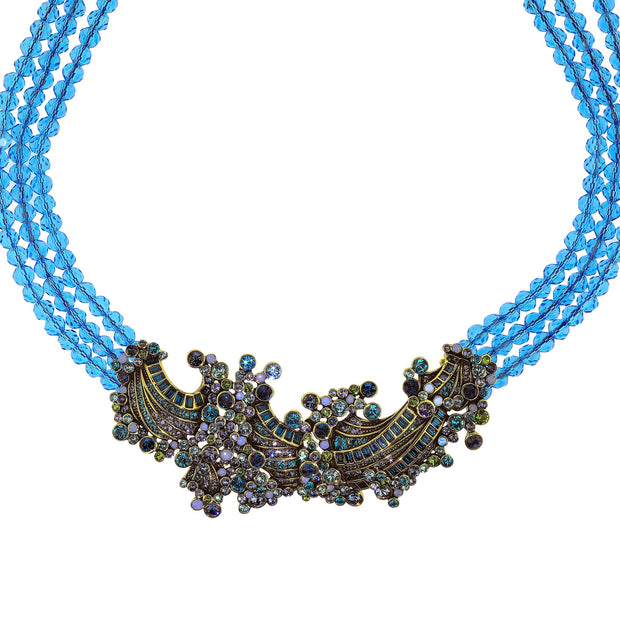 Ripple Effect Beaded Crystal Necklace - Heidi Daus®