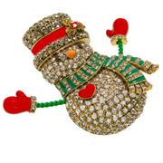 "HEIDI DAUS®""I Heart Snow"" Crystal and Enamel Snowman Pin - Heidi Daus®"