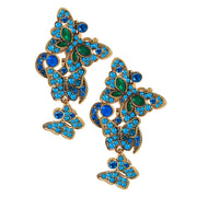 "HEIDI DAUS®""Mythical Monarch"" Crystal Drop Butterfly Earrings - Heidi Daus®"