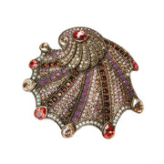 """Pearl of the Sea"" Swarovski Shell Pin - Heidi Daus®"