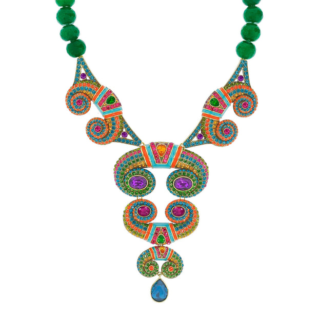 "HEIDI DAUS® ""Impact & Impress"" Enamel Crystal Beaded Statement Necklace - Heidi Daus®"