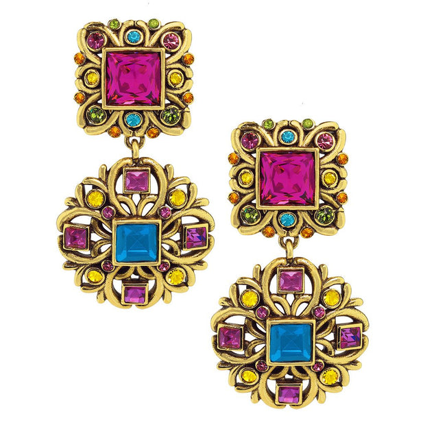 "HEIDI DAUS® ""Crown Collection"" Crystal Drop Earrings - Heidi Daus®"