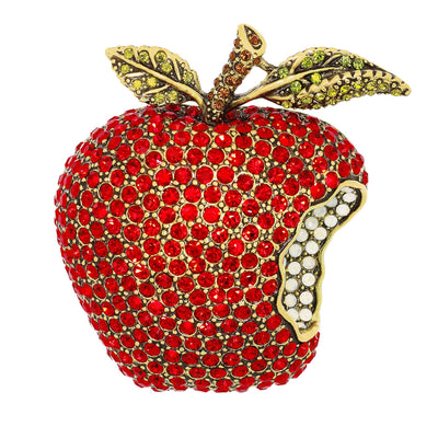 """Forbidden Fruit"" Crystal Apple Pin"