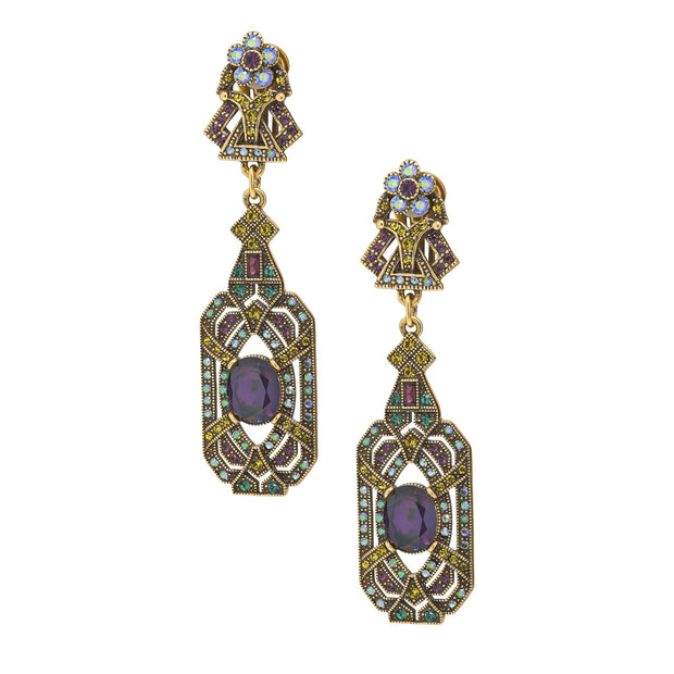 """Everlasting Elegance"" Crystal Deco Drop Earrings - Heidi Daus®"