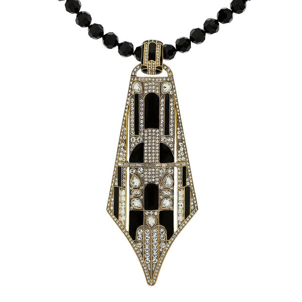 """To Tie For"" Crystal Enamel Pendant Necklace - Heidi Daus®"