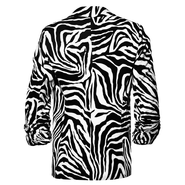 HEIDI DAUS® Stunning Safari Ruched Sleeve Power Blazer - Heidi Daus®