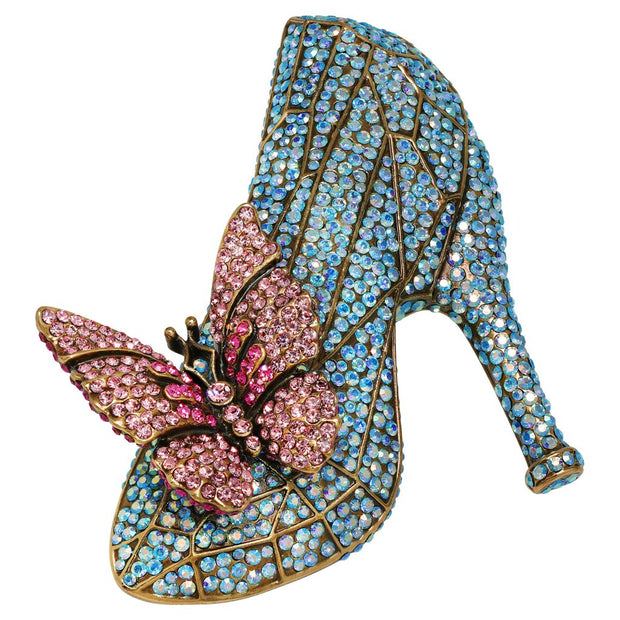 """If the Shoe Fits"" Crystal Shoe Pin - Heidi Daus®"