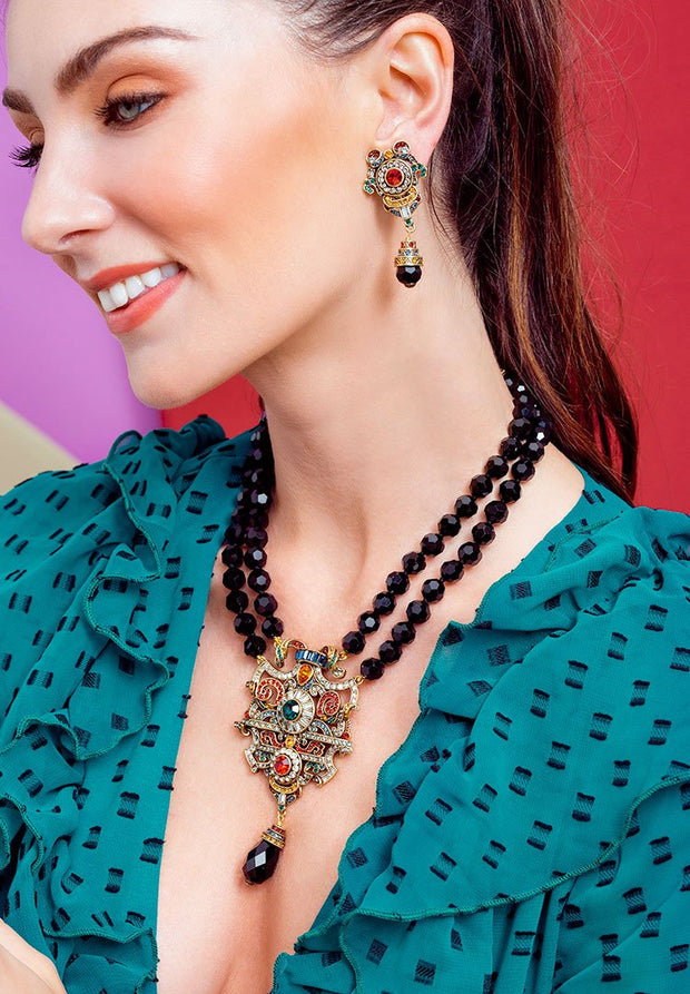 "HEIDI DAUS® ""Antique Elegance"" Beaded Crystal Statement Necklace - Heidi Daus®"