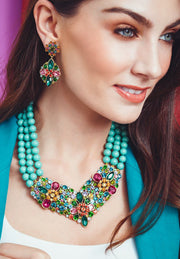 "HEIDI DAUS® ""Artful Aristocrat"" Crystal Beaded Floral Necklace - Heidi Daus®"