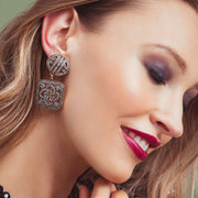 """Asian Artistry"" Crystal Drop Earrings - Heidi Daus®"