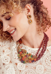 """Autumn Abundance"" Crystal Beaded Floral & Veggie Necklace - Heidi Daus®"